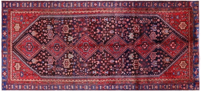 Hand-Knotted New Persian Nahavand Rug