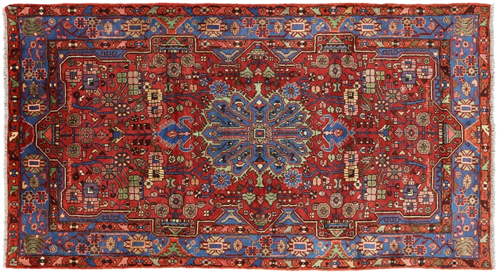Unique Hand Knotted Persian Nahavand Rug