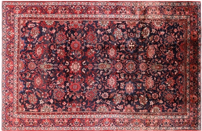 New Hand-Knotted Persian Mahal Rug