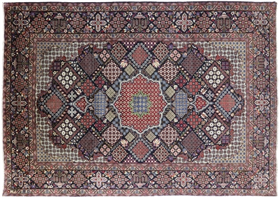 New Geometric Design Handmade Persian Isfahan Area Rug