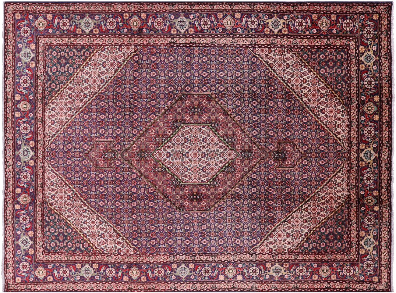 Persian Tabriz Fish Design Area Rug