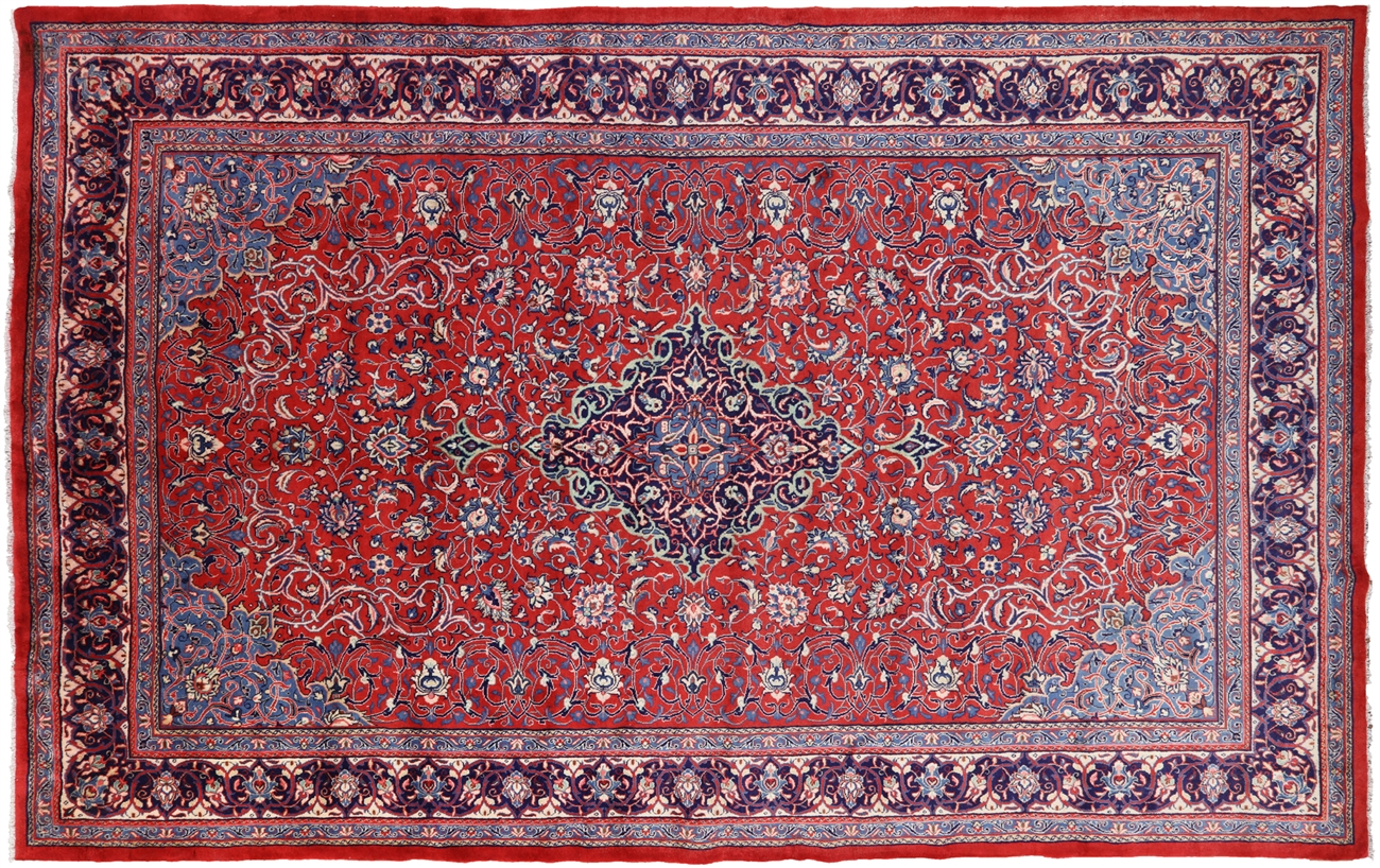 New 9 10 X 15 8 Hand Knotted Persian Mahal Area Rug S1367