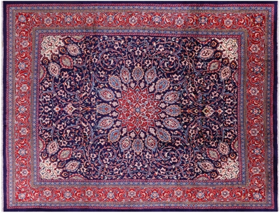 New Persian Mahal Hand Knotted Area Rug