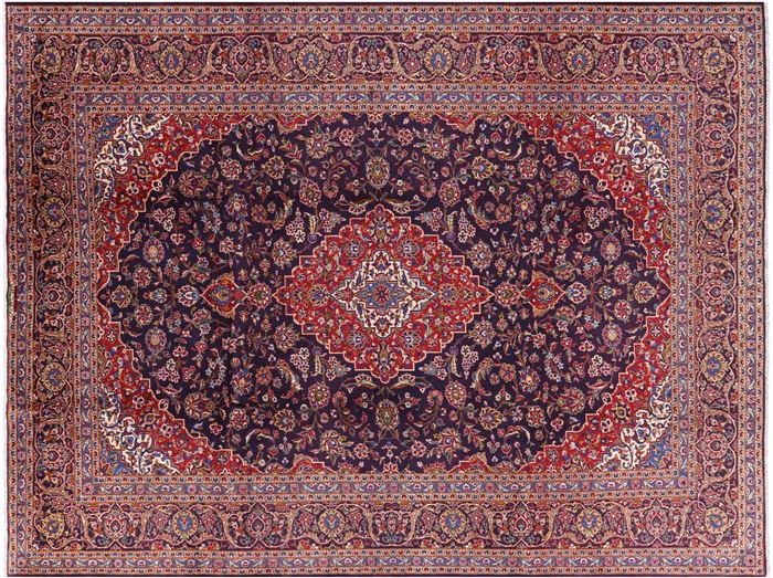 New Persian Hand Knotted Kashan Area Rug