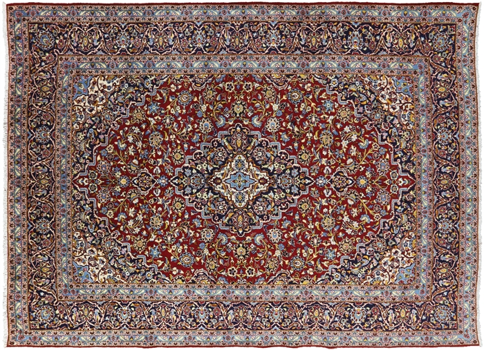 New Persian Kashan Hand Knotted Oriental Wool Area Rug
