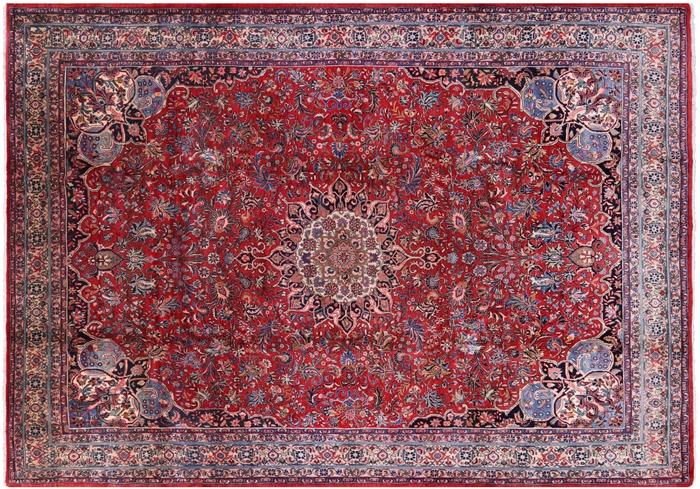 Antique Excellent Condition 8 X 11 Persian Bijar Iron Rug