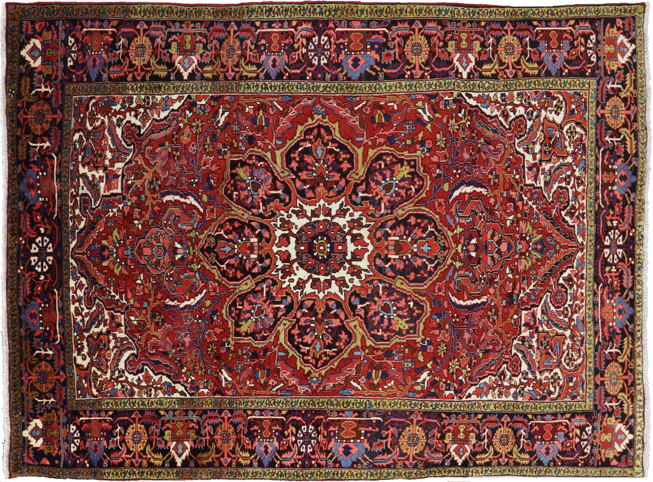 Hand Knotted 8 7 X 11 2 New Persian Fine Serapi Area Rug