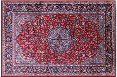 New Persian Isfahan Hand Knotted Area Rug