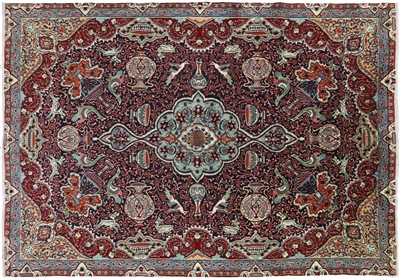 New Persian Kashmar Handmade Area Rug