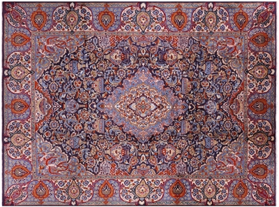 Handmade New Persian Kashmar Wool Area Rug