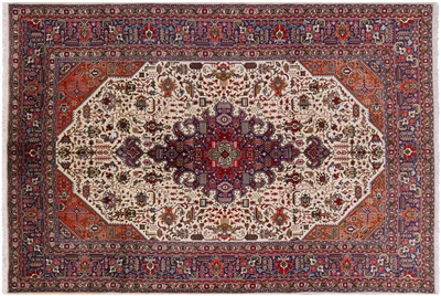 New Authentic Persian Tabriz Full Pile Area Rug