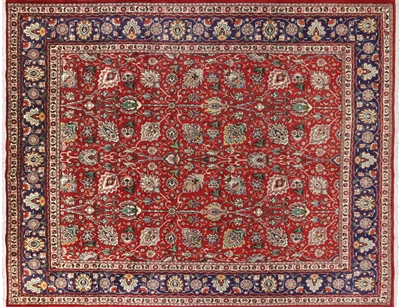 New Persian Tabriz Hand Knotted Rug