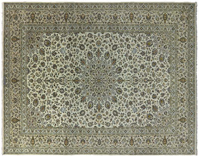 New Authentic Persian Kashan Full Pile Rug