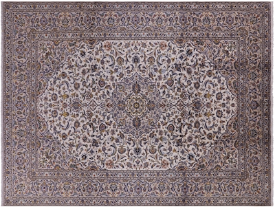 New Full Pile Wool Authentic Persian Kashan Rug