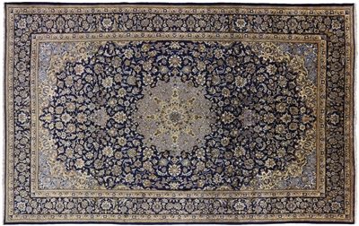 New Persian Isfahan Hand Knotted Full Pile Rug