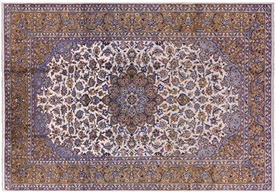 New Persian Kashan Full Pile Wool Rug