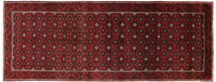 New Persian Balouch Hand Knotted Rug