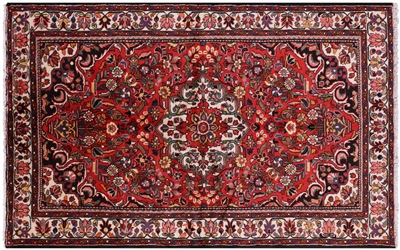 Persian Nahavand Hand Knotted Wool Area Rug