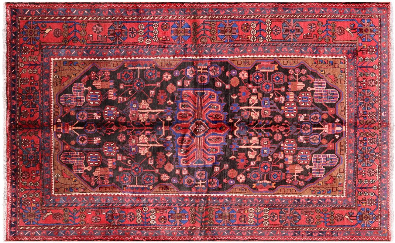 New Persian Nahavand Handmade Wool Rug