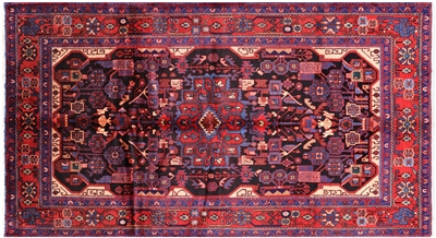 New Authentic Persian Nahavand Hand Knotted Rug