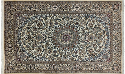 New Persian Nain Full Pile Area Rug