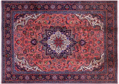New Authentic Persian Tabriz Full Pile Hand Knotted Wool Rug