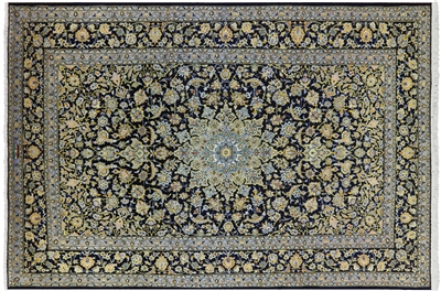 New Authentic Persian Kashan Full Pile Wool Rug