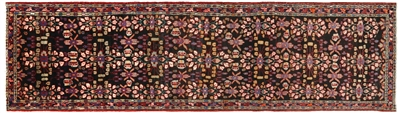 New Persian Hamadan Runner Rug