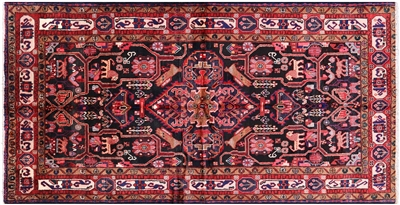 New Hand Knotted Wool Persian Hamadan Rug