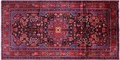 New Persian Nahavand Hand Knotted Wool Rug