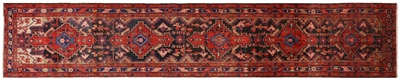 Full Pile Wool Persian Hamadan Runner Rug