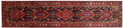 New Runner Full Pile Wool Persian Hamadan Rug