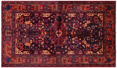 New Authentic Persian Nahavand Full Pile Wool Rug