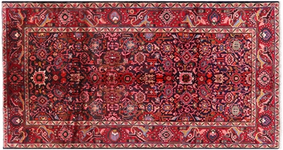 New Full Pile Wool Persian Hamadan Rug