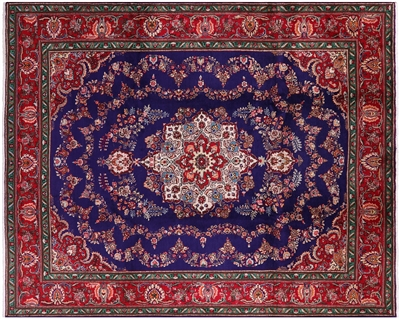 Handmade Persian Tabriz Full Pile Wool Area Rug