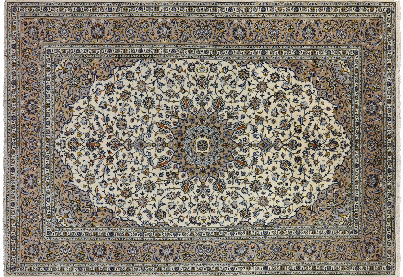 New Persian Kashan Wool Area Rug 8 X 11