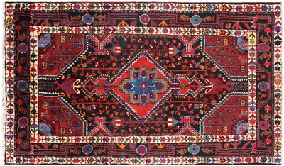 New Persian Nahavand Hand Knotted Full Pile Wool Area Rug