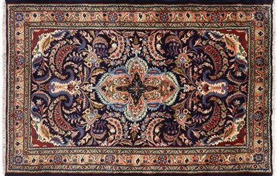 New Authentic Persian Lillian Hand Knotted Wool Area Rug