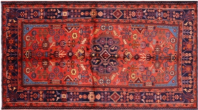 New Hand Knotted Persian Nahavand Rug