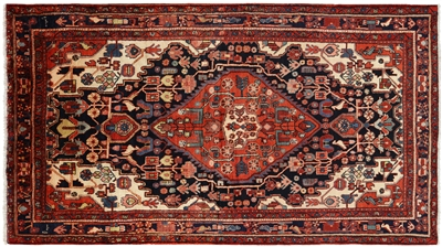 Persian Nahavand Hand Knotted Full Pile Wool Rug