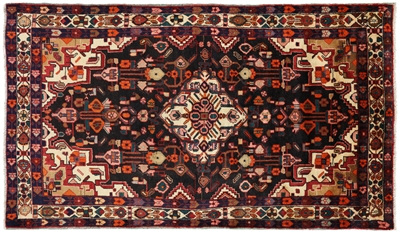 New Handmade Persian Hamadan Wool Rug