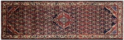 Runner New Hand Knotted Persian Nahavand Rug