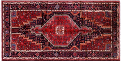 New Persian Hamadan Hand Knotted Rug