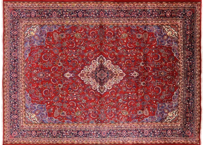 New Persian Hamadan Hand Knotted Wool Area Rug