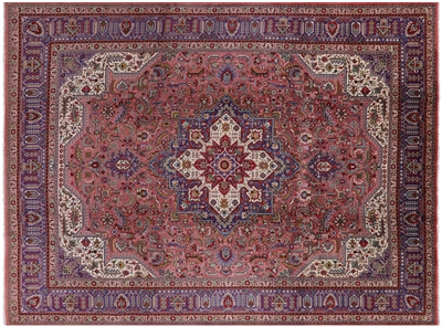 New Persian Tabriz Hand Knotted Full Pile Rug