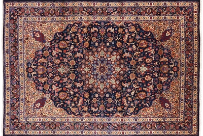 New Signed Persian Mashad 400 KPSI Full Pile Rug