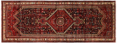 New Full Pile Wool Persian Nahavand Runner Rug