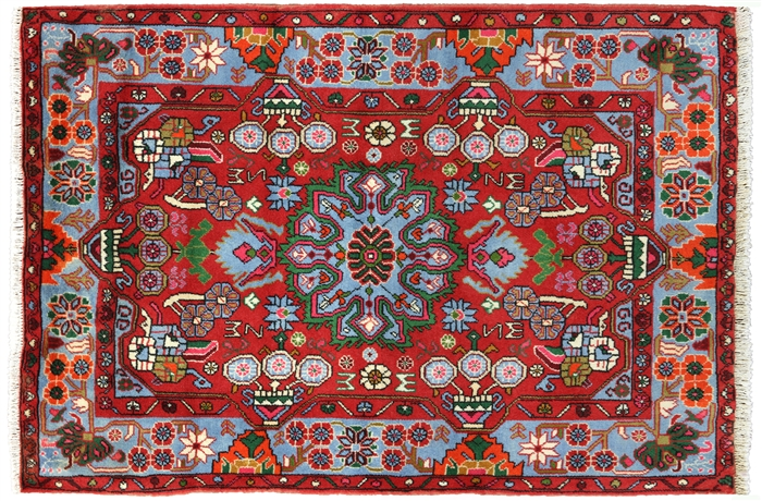 New Persian Hamadan Wool Area Rug