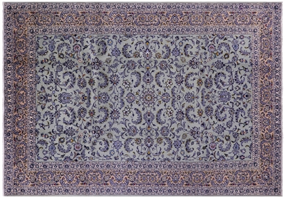 New Full Pile Wool Persian Kashan Area Rug