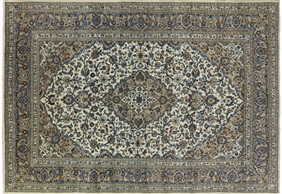 New Full Pile Authentic Persian Kashan Rug